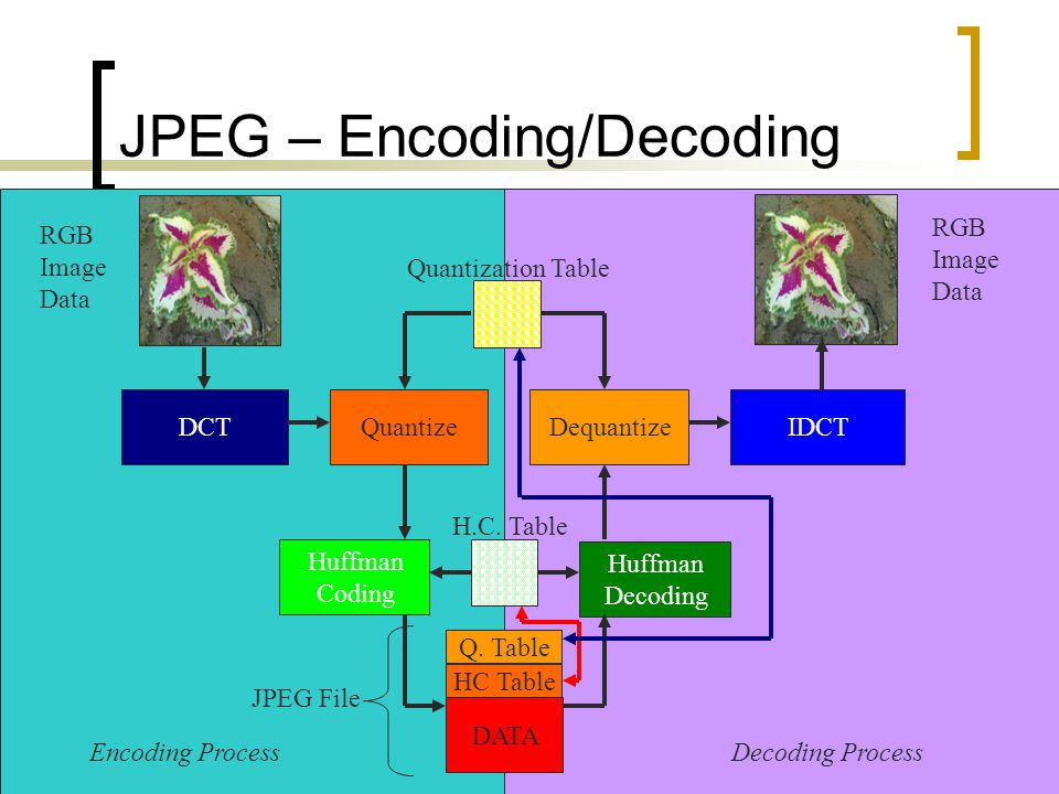 JPEG – Encoding/Decoding