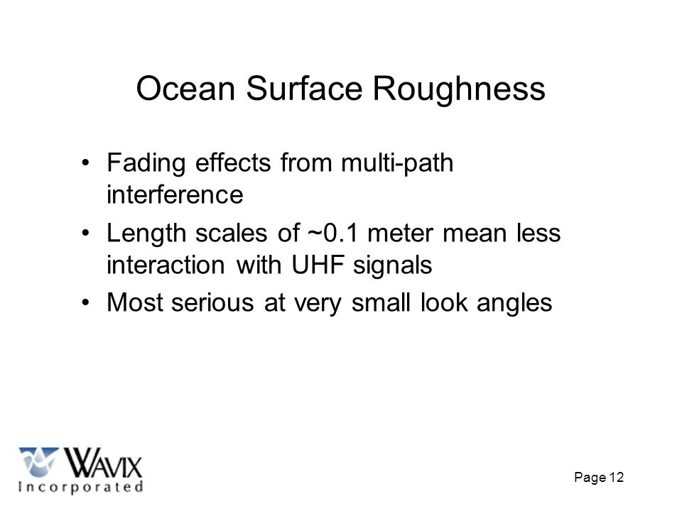 Ocean Surface Roughness