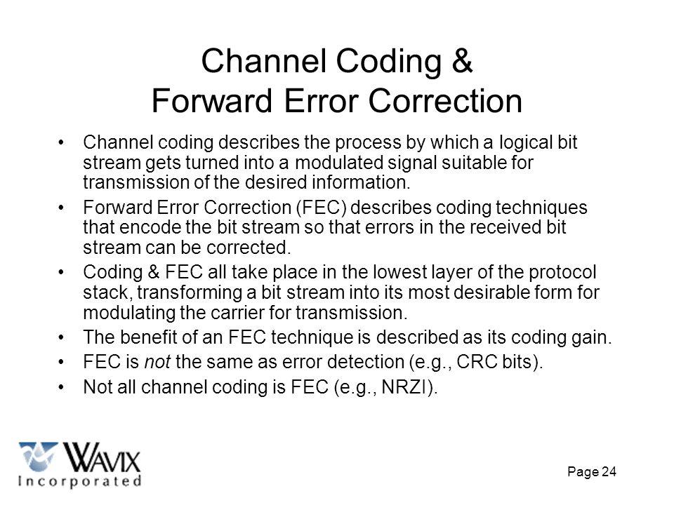 Channel Coding & Forward Error Correction