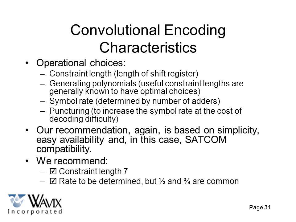 Convolutional Encoding Characteristics