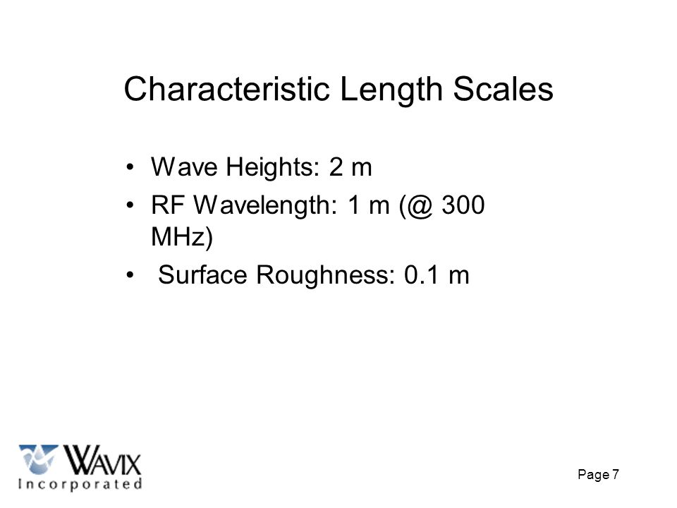 Characteristic Length Scales