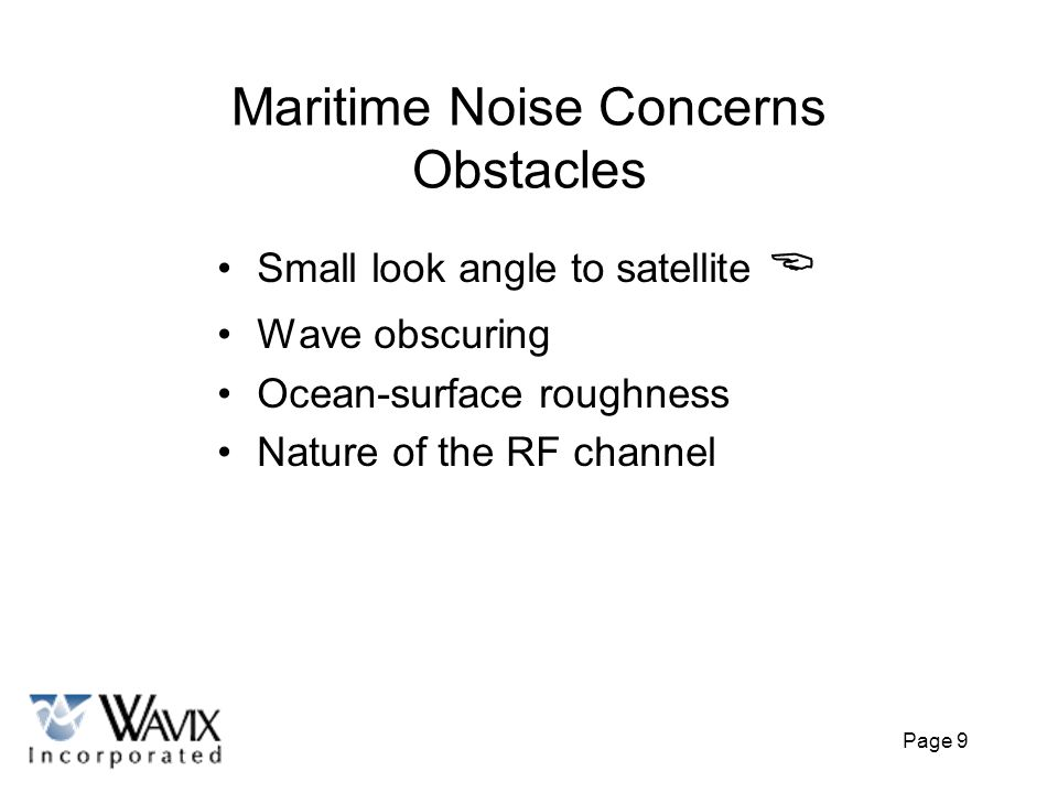 Maritime Noise Concerns Obstacles