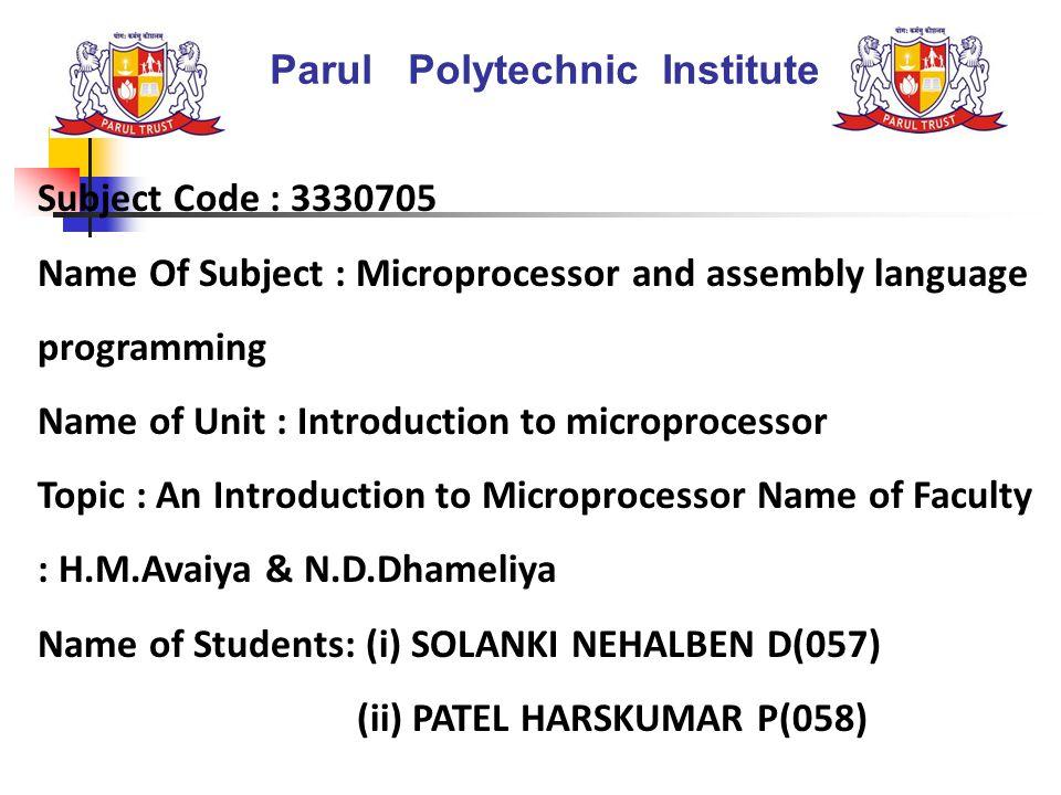 Parul Polytechnic Institute