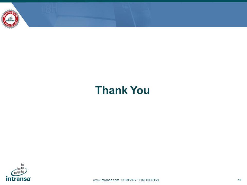 Thank You www.intransa.com COMPANY CONFIDENTIAL