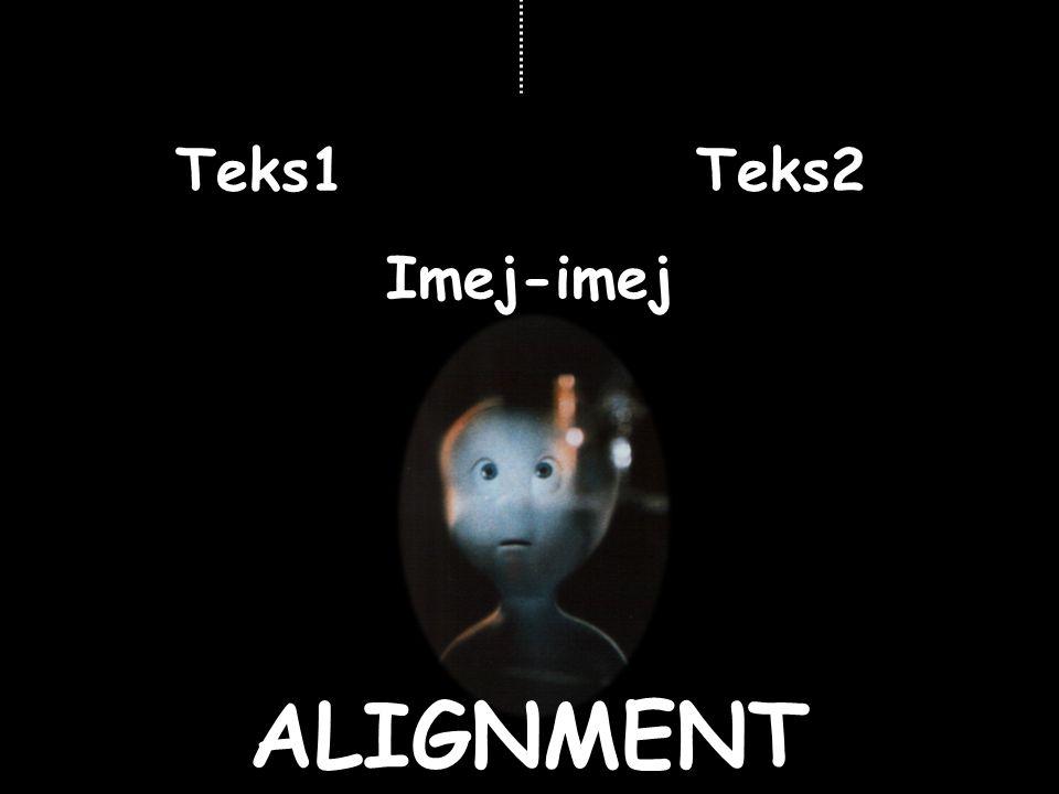 Teks1 Teks2 Imej-imej ALIGNMENT