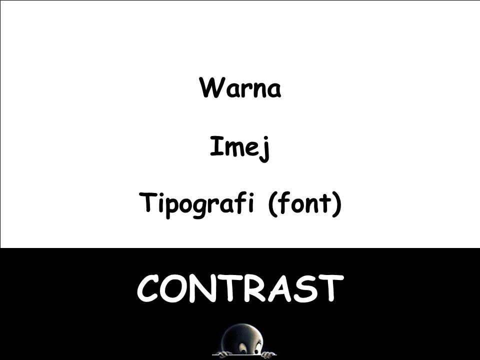 Warna Imej Tipografi (font) CONTRAST