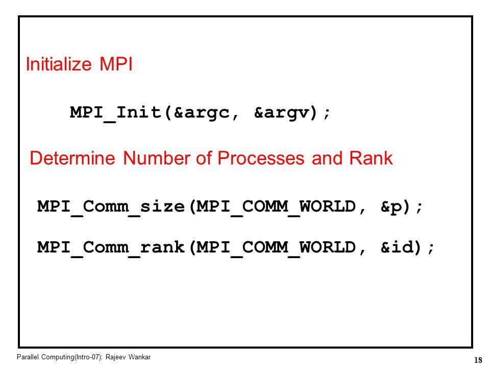 MPI_Init(&argc, &argv);