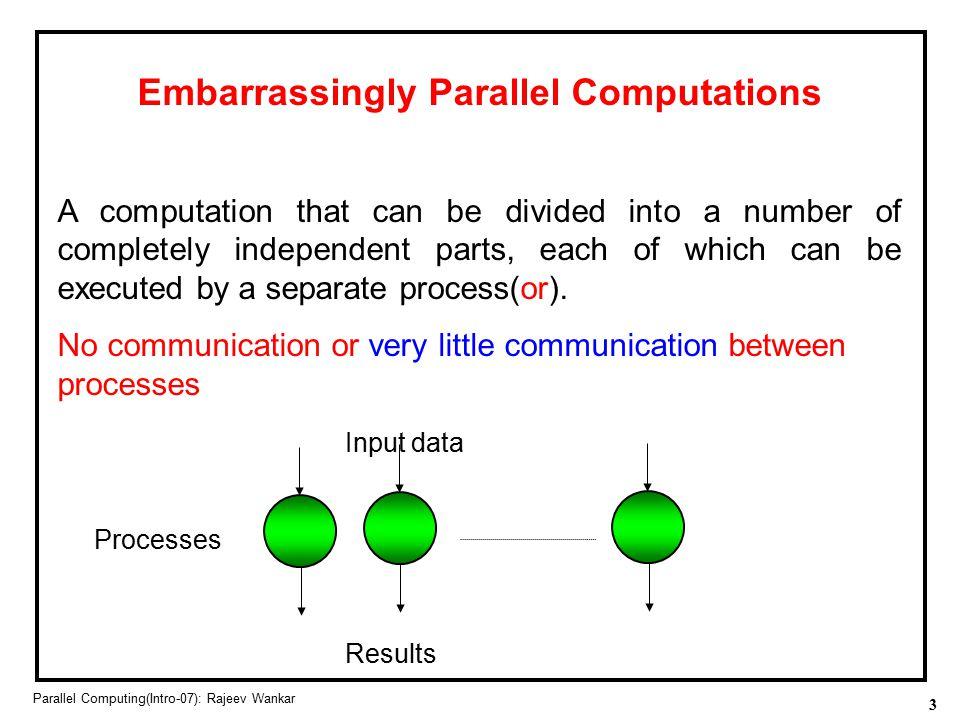 Embarrassingly Parallel Computations