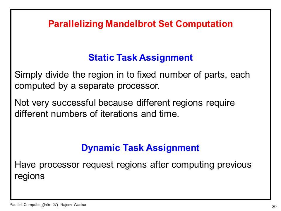 Parallelizing Mandelbrot Set Computation
