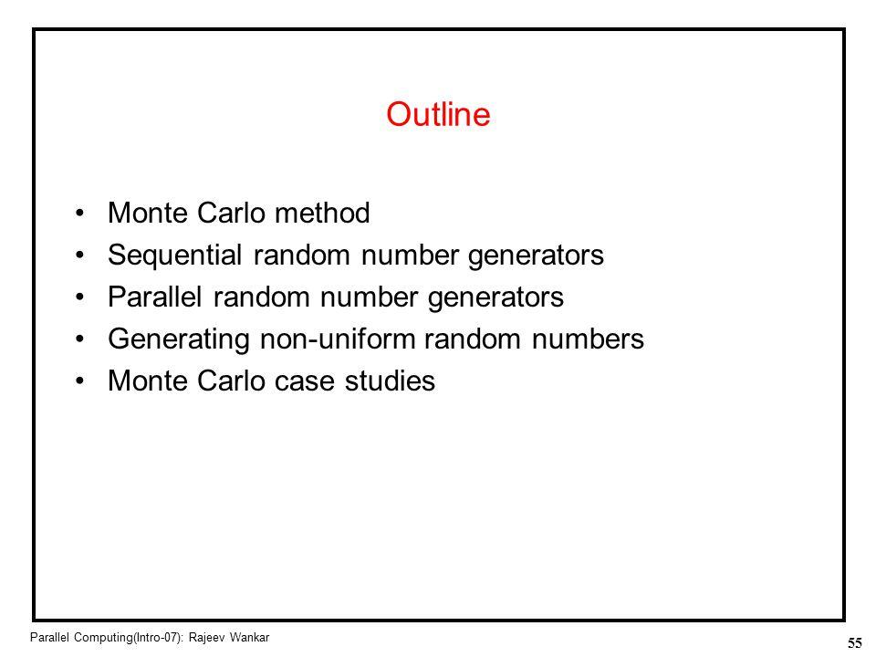 Outline Monte Carlo method Sequential random number generators