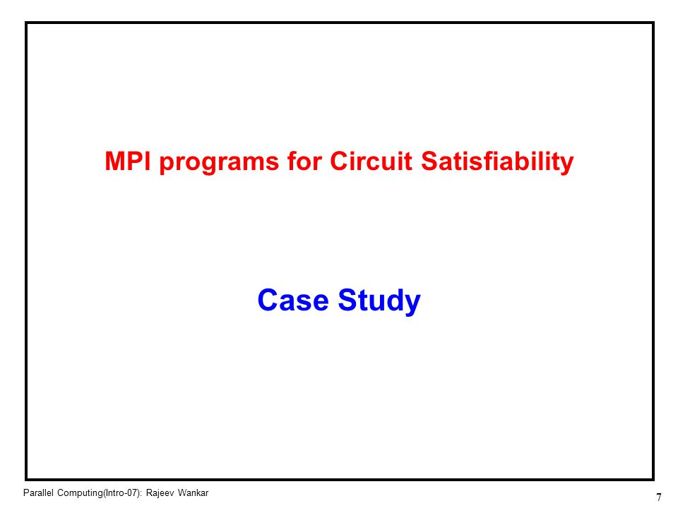 MPI programs for Circuit Satisfiability