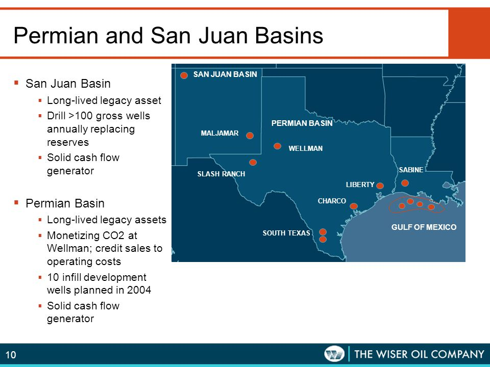 Permian and San Juan Basins