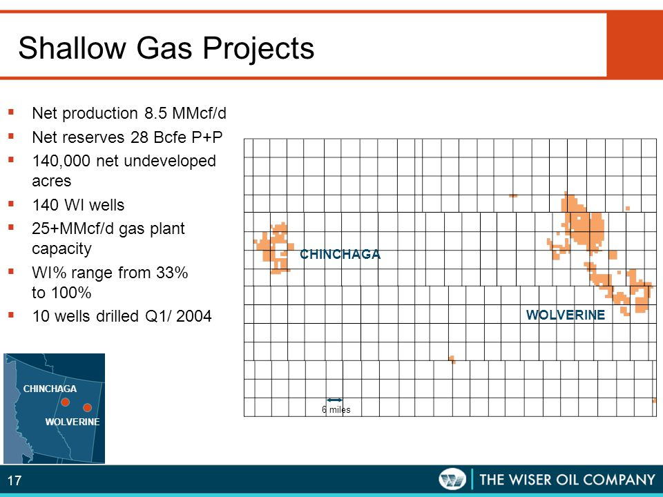 Shallow Gas Projects Net production 8.5 MMcf/d