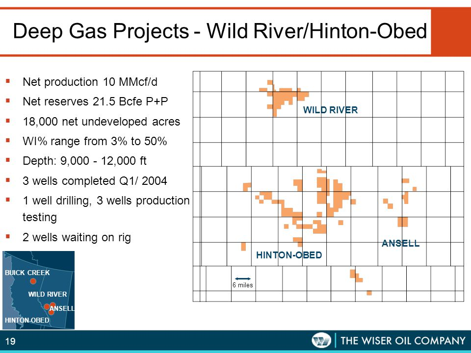 Deep Gas Projects - Wild River/Hinton-Obed