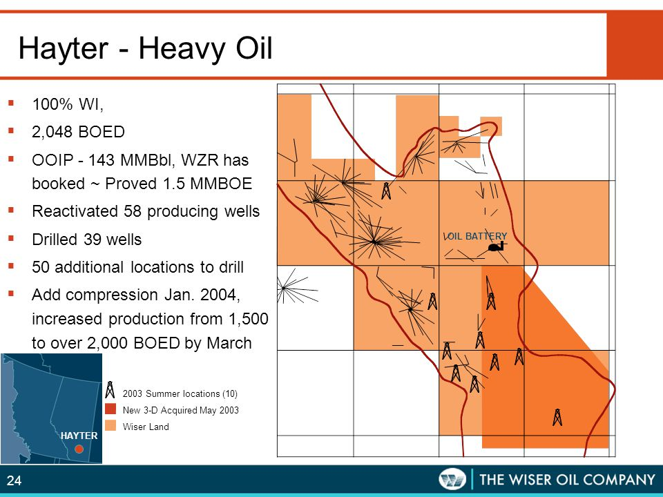 Hayter - Heavy Oil 100% WI, 2,048 BOED