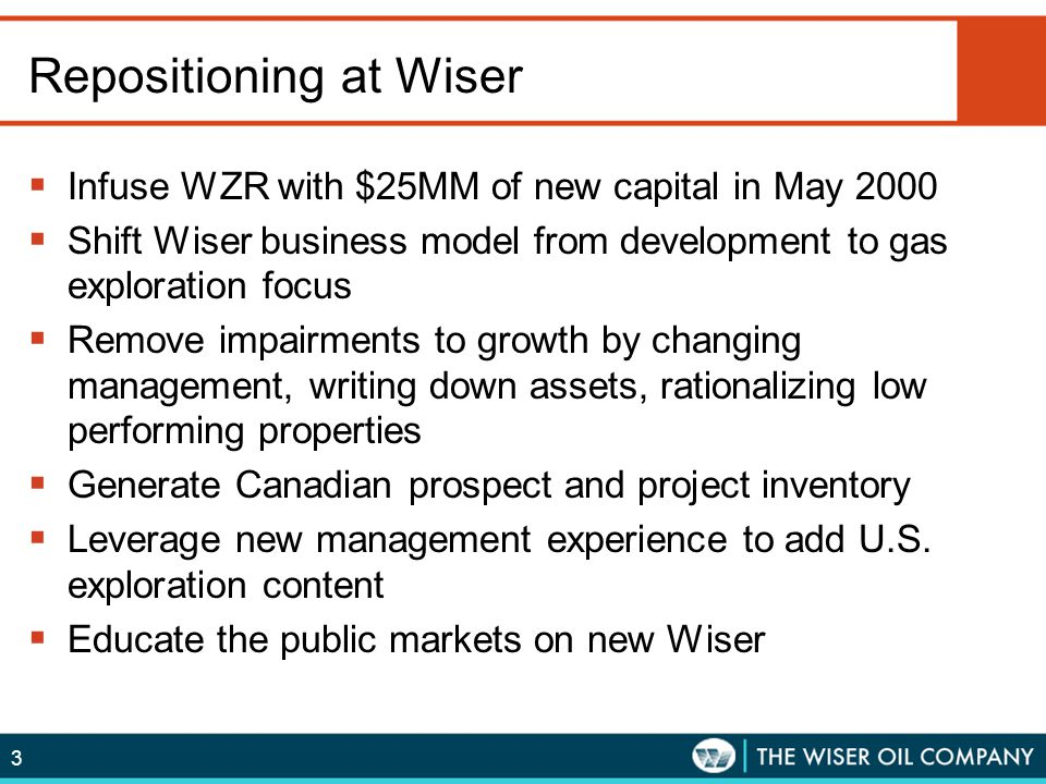 Repositioning at Wiser