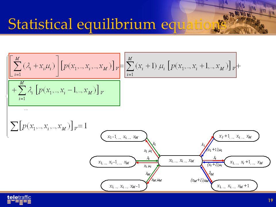 Statistical equilibrium equations