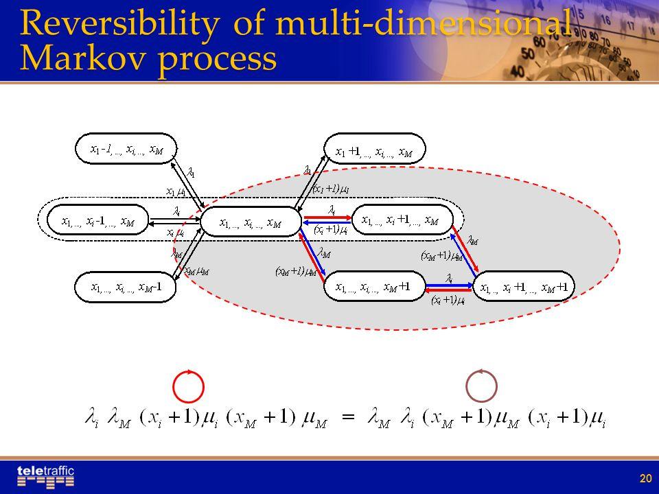 Reversibility of multi-dimensional Markov process