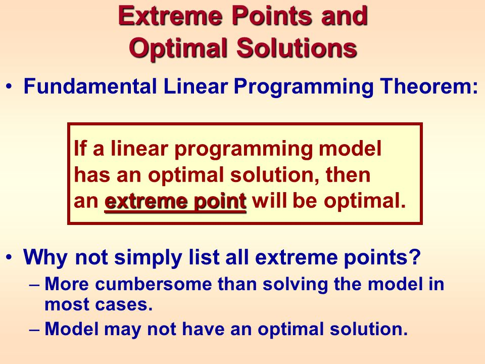 Extreme Points and Optimal Solutions