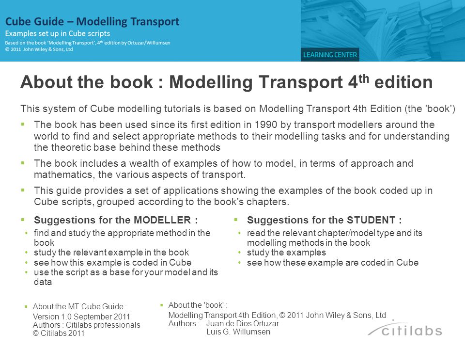 About the book : Modelling Transport 4th edition
