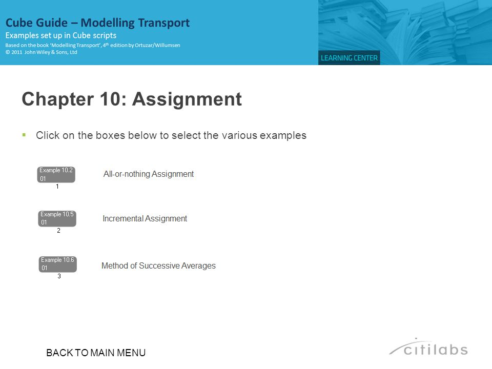 Chapter 10: Assignment Click on the boxes below to select the various examples. ________________________________________________________.