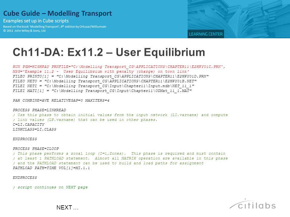 Ch11-DA: Ex11.2 – User Equilibrium