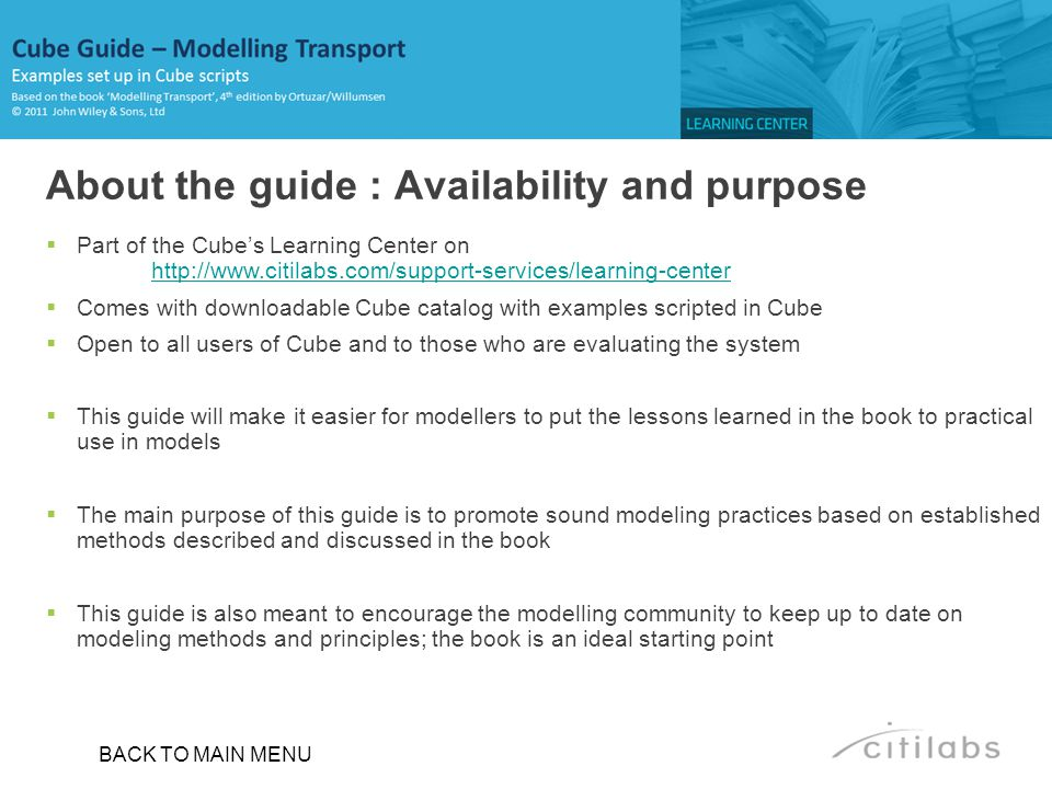 About the guide : Availability and purpose