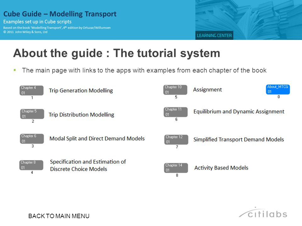 About the guide : The tutorial system