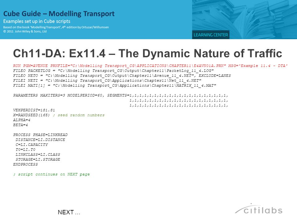 Ch11-DA: Ex11.4 – The Dynamic Nature of Traffic