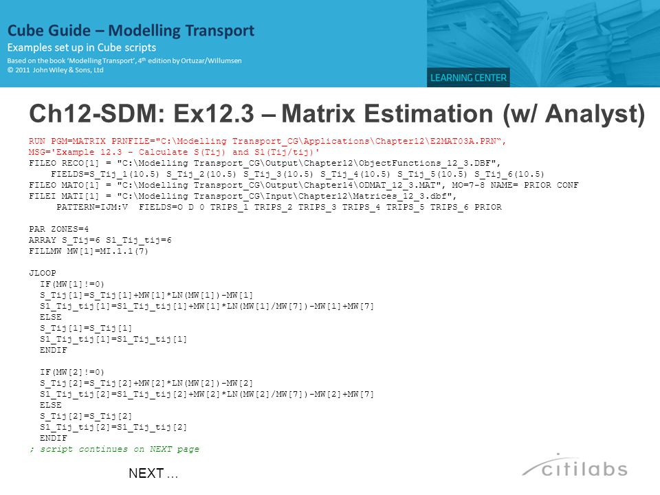 Ch12-SDM: Ex12.3 – Matrix Estimation (w/ Analyst)