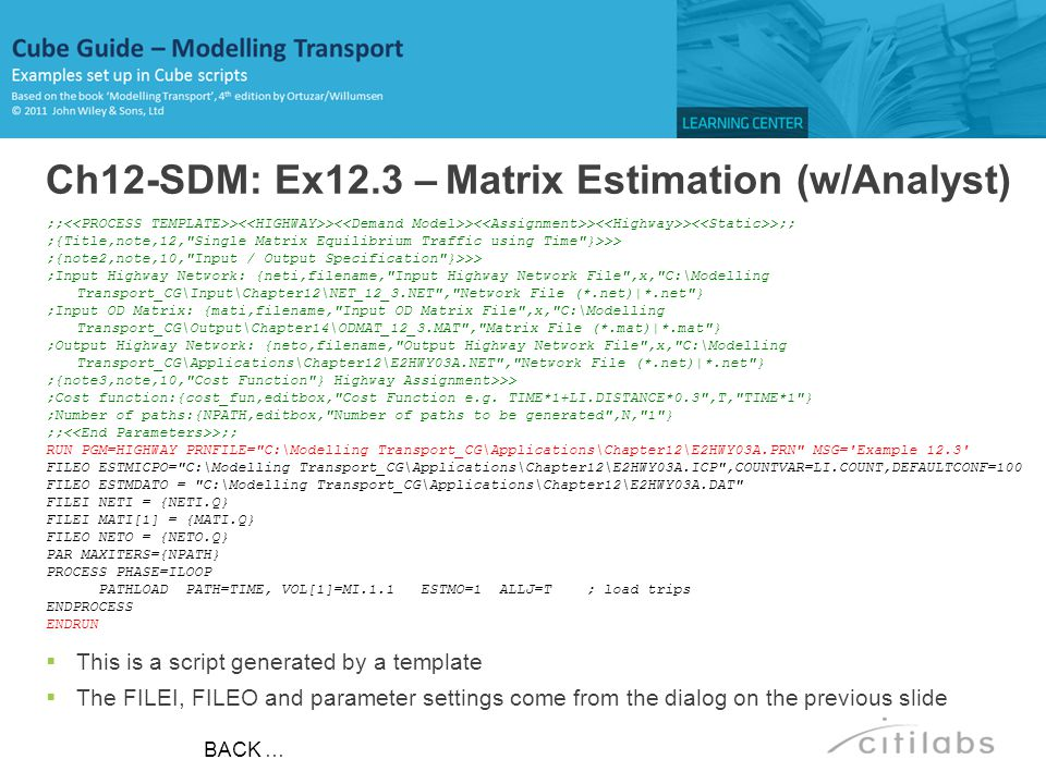 Ch12-SDM: Ex12.3 – Matrix Estimation (w/Analyst)