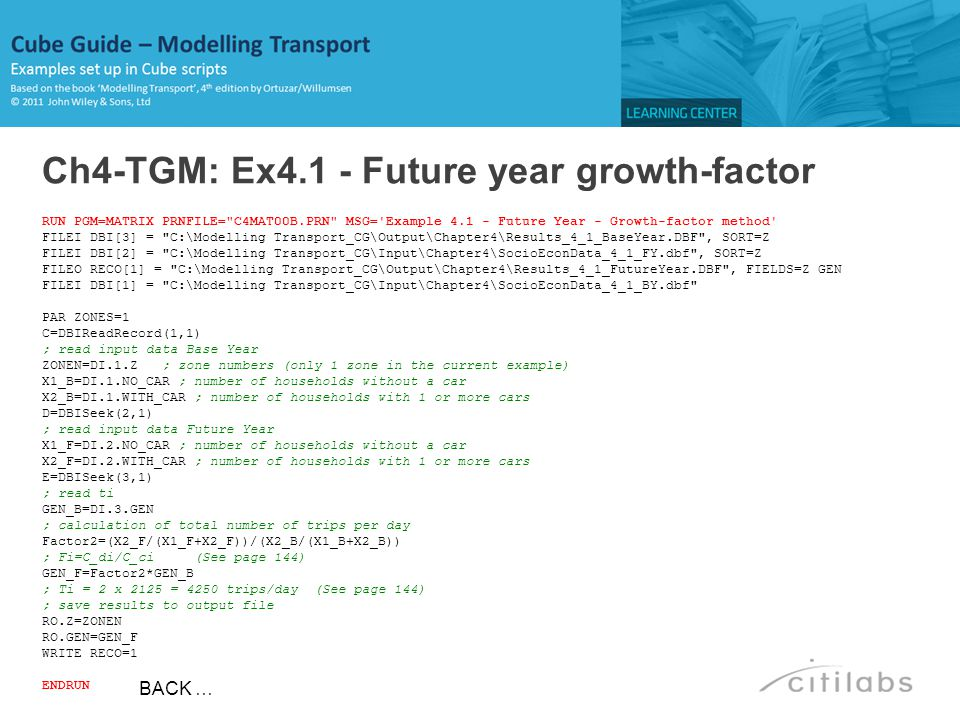 Ch4-TGM: Ex4.1 - Future year growth-factor