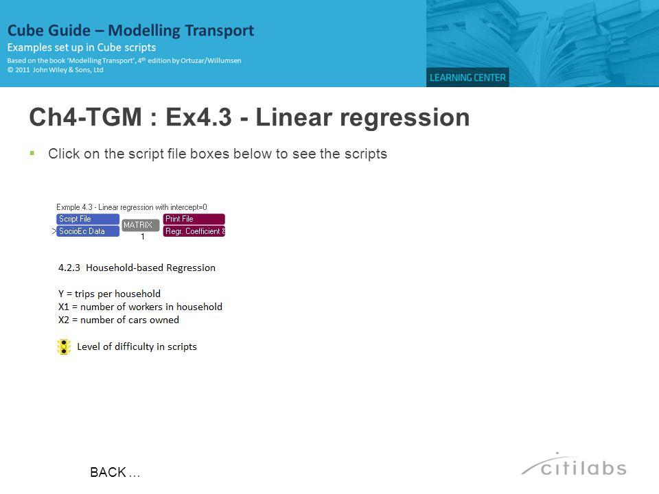 Ch4-TGM : Ex4.3 - Linear regression