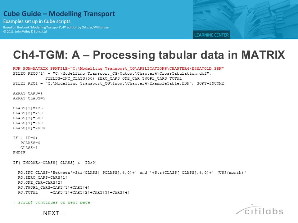Ch4-TGM: A – Processing tabular data in MATRIX