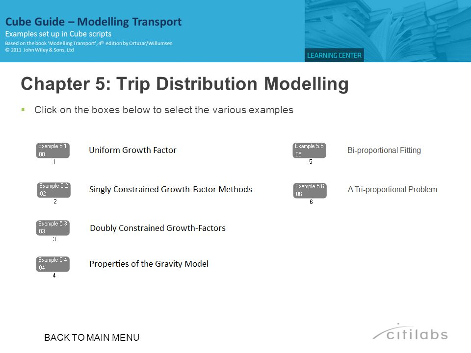 Chapter 5: Trip Distribution Modelling