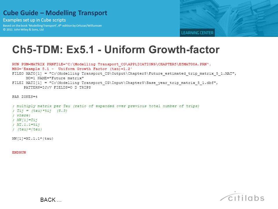Ch5-TDM: Ex5.1 - Uniform Growth-factor
