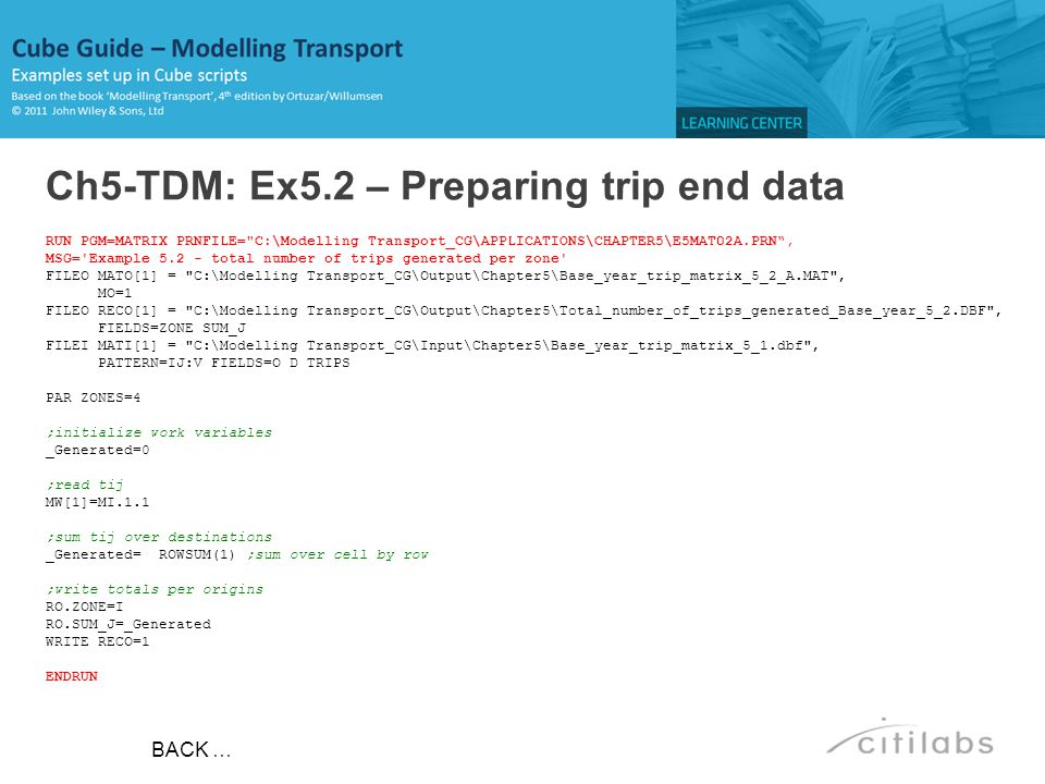 Ch5-TDM: Ex5.2 – Preparing trip end data