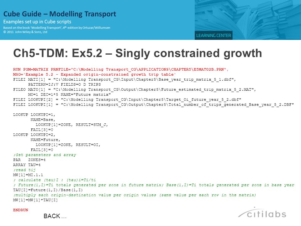Ch5-TDM: Ex5.2 – Singly constrained growth