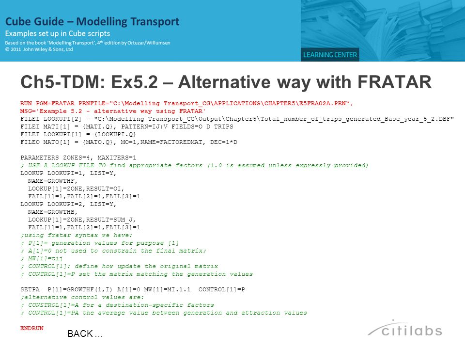 Ch5-TDM: Ex5.2 – Alternative way with FRATAR