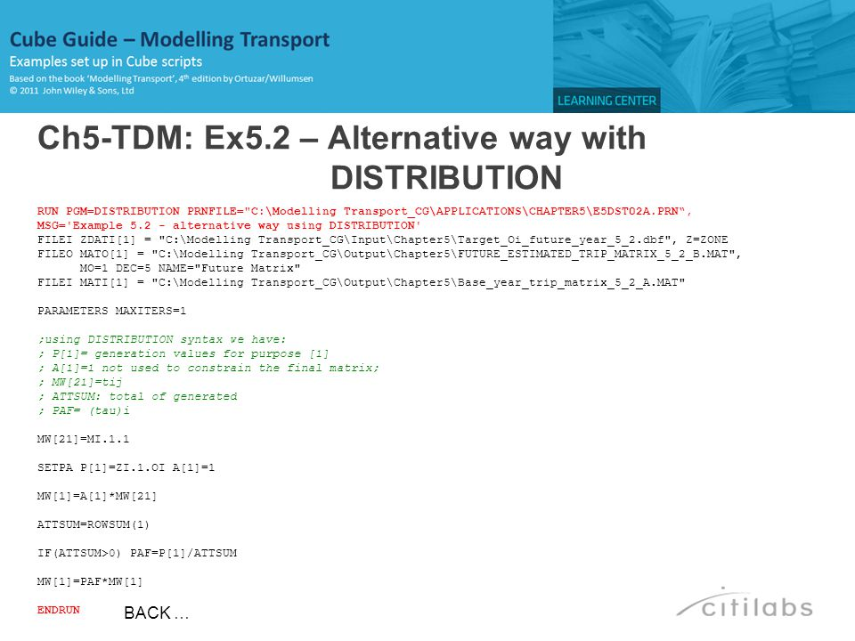Ch5-TDM: Ex5.2 – Alternative way with DISTRIBUTION