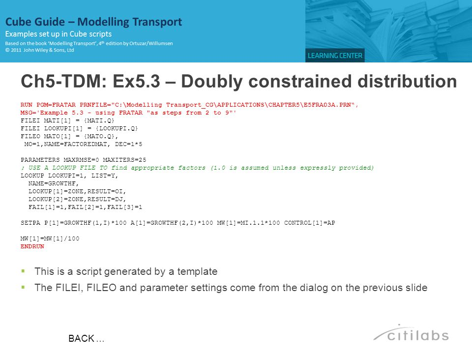 Ch5-TDM: Ex5.3 – Doubly constrained distribution