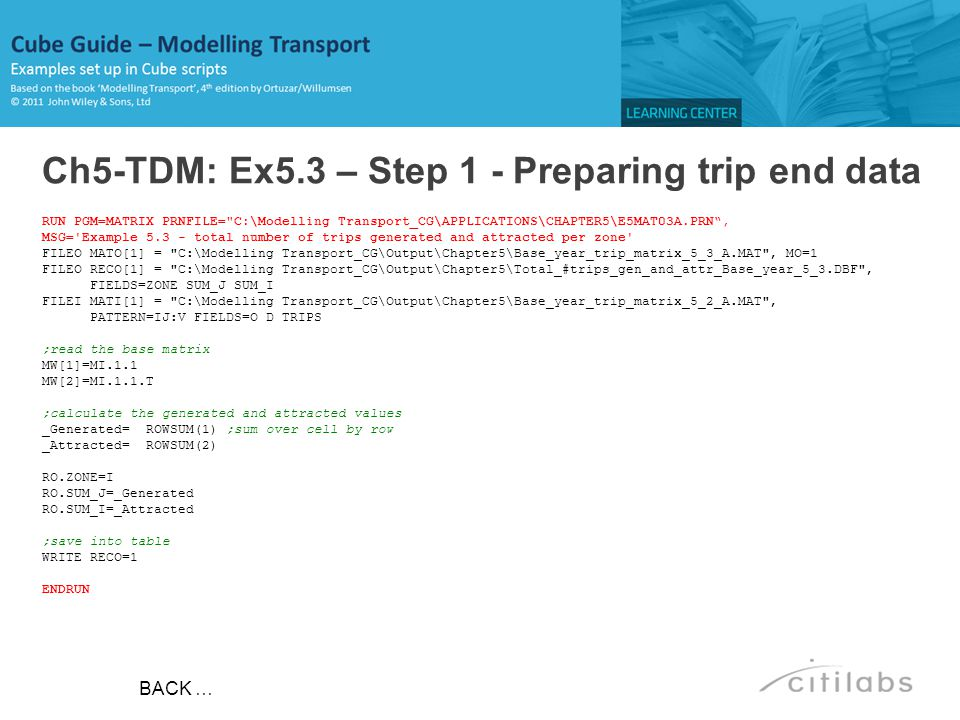 Ch5-TDM: Ex5.3 – Step 1 - Preparing trip end data