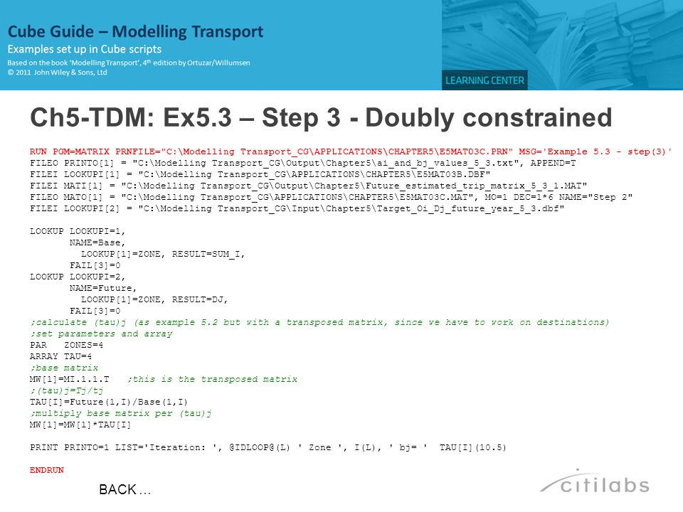 Ch5-TDM: Ex5.3 – Step 3 - Doubly constrained