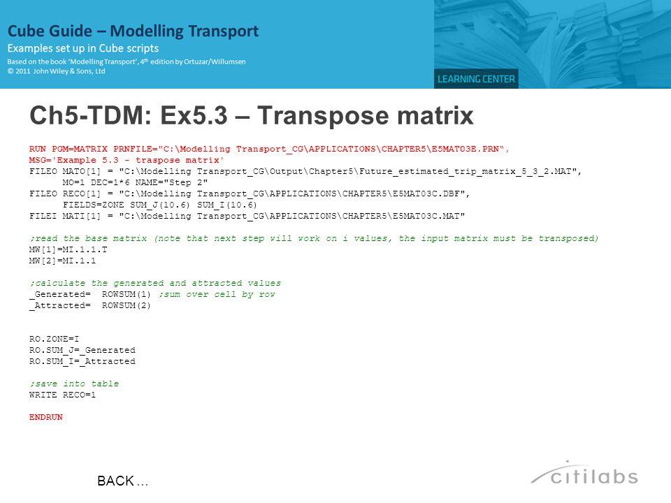Ch5-TDM: Ex5.3 – Transpose matrix