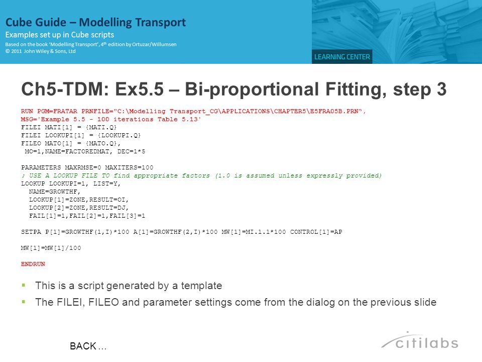 Ch5-TDM: Ex5.5 – Bi-proportional Fitting, step 3