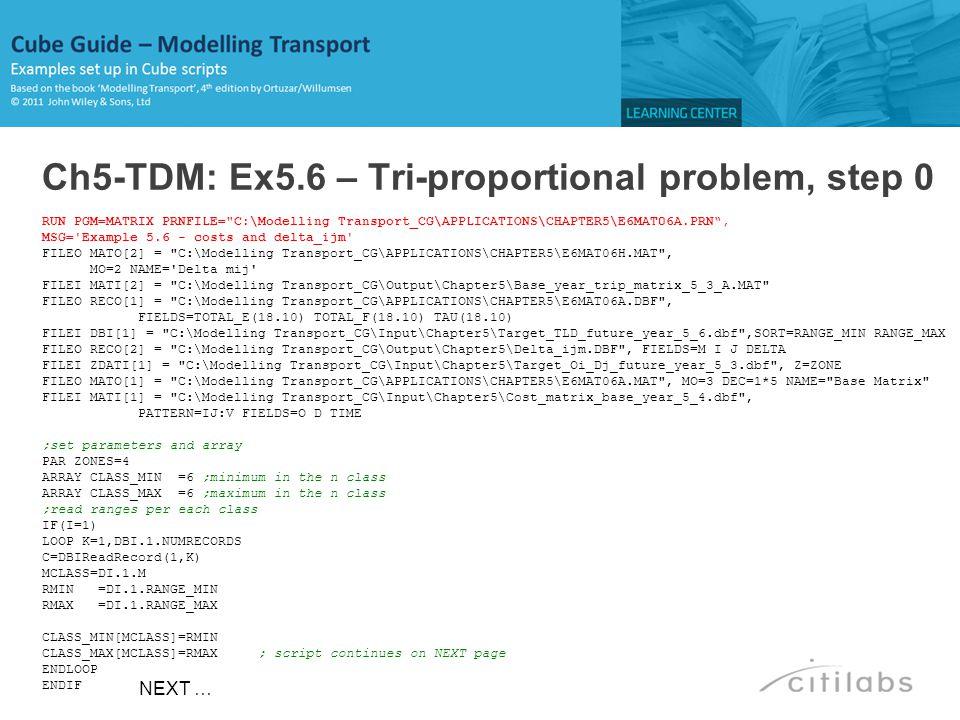 Ch5-TDM: Ex5.6 – Tri-proportional problem, step 0