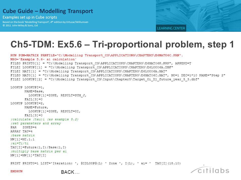 Ch5-TDM: Ex5.6 – Tri-proportional problem, step 1
