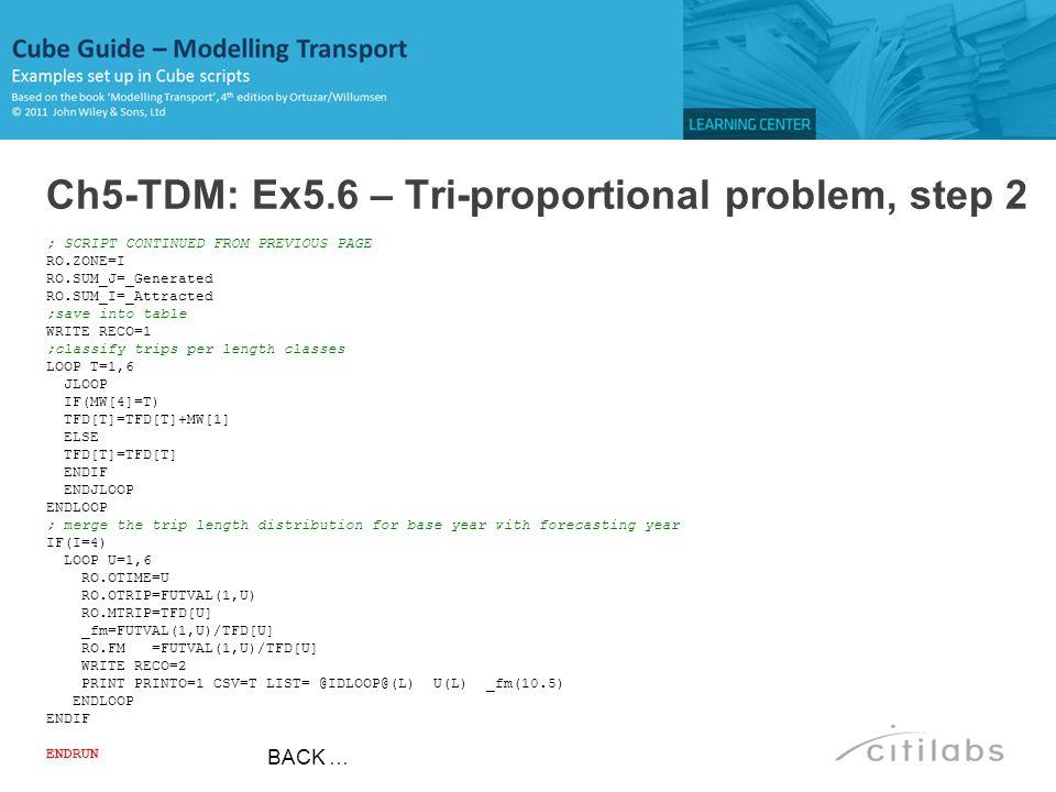 Ch5-TDM: Ex5.6 – Tri-proportional problem, step 2