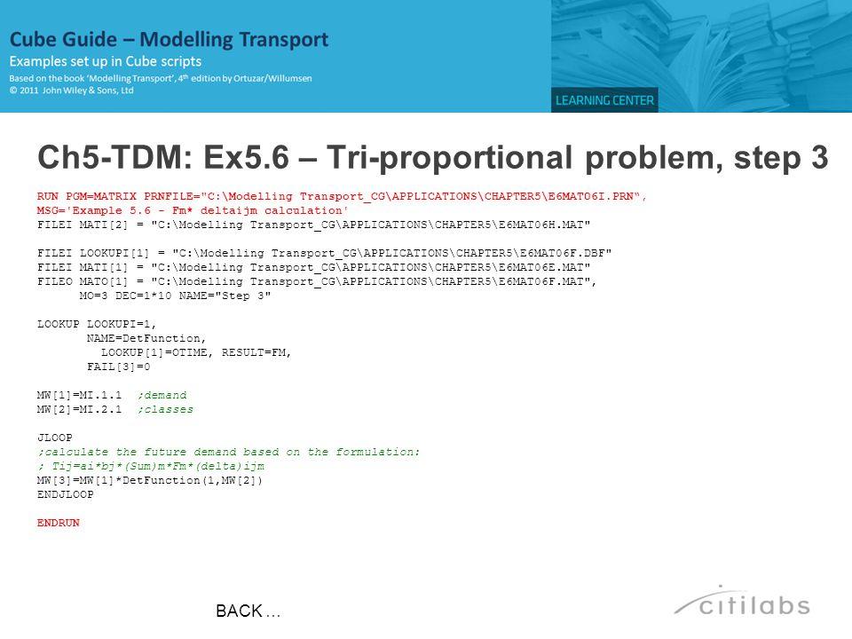 Ch5-TDM: Ex5.6 – Tri-proportional problem, step 3