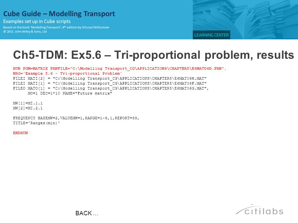 Ch5-TDM: Ex5.6 – Tri-proportional problem, results